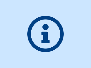 Blue information icon
